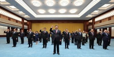 """习近平参观""""'不忘初心、牢记使命'中国共产党历..."""